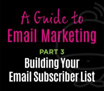 Email Marketing - Building your subscriber list