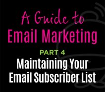 Email Marketing - Maintaining subscriber lists