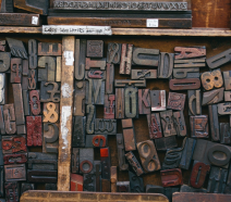 Letters in a wooden box