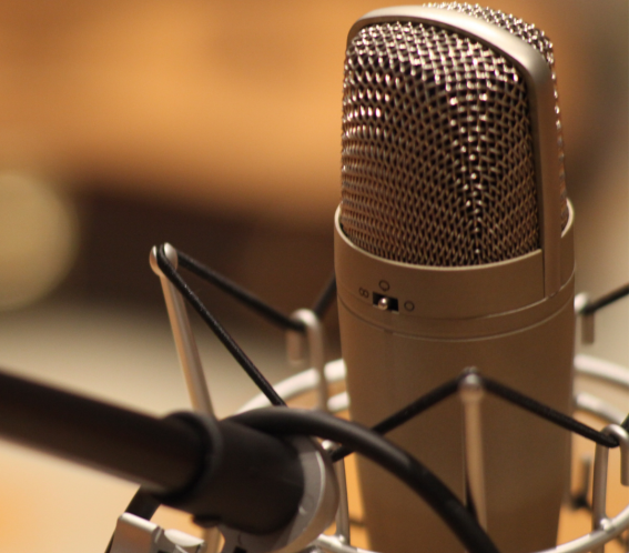 A Podcast Recording Microphone